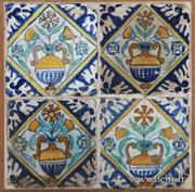 delft tile bouquet