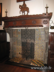 delft tile fireplace